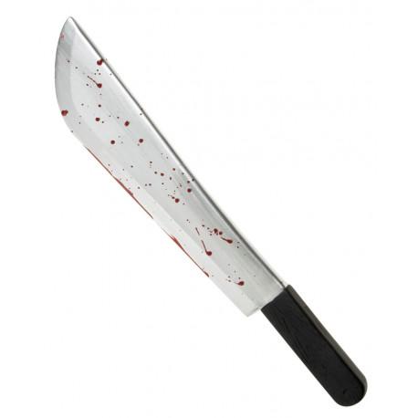 Cuchillo con gotas de sangre