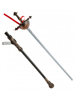 Espada decorada con funfa