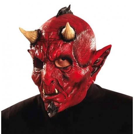Máscara de Diablo con Cuernos de Látex