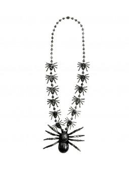 Collar con tarantula y arañas