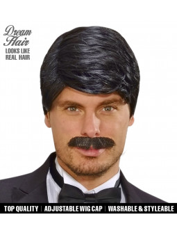Peluca Lujo con bigote - Efecto Natural - Dream Hair