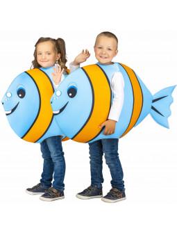 Disfraz de Pez Azul y Naranja Infantil