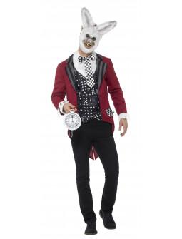 Disfraz de Conejo de Alicia Monstruoso para Hombre