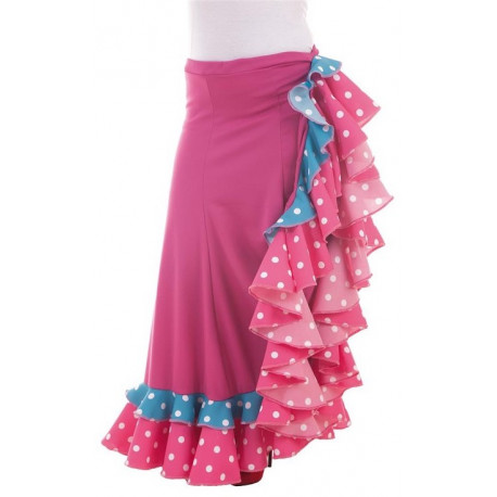 Falda Flamenca Rosa para Mujer