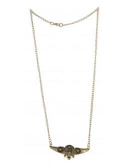 Collar Steampunk Dorado con Alas y Engranajes