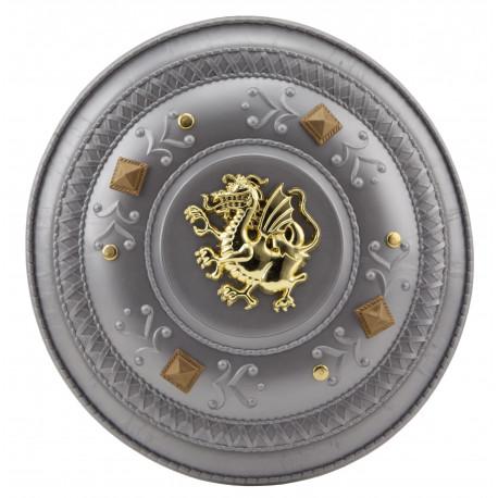 Escudo Medieval con Dragón Dorado Infantil