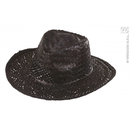 Sombrero de paja en negro