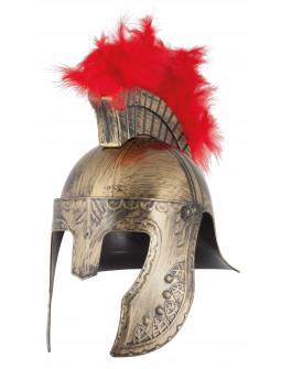 Casco de Soldado Griego con Penacho
