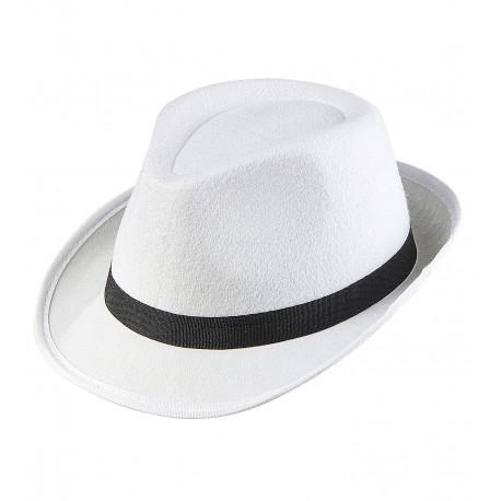 Sombrero blanco de gangster