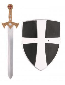 Espada Medieval de Cruzado con Escudo