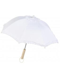 Sombrilla Blanca de Tela