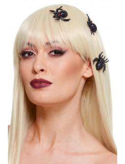 Pinzas de Arañas Negras  para el Pelo