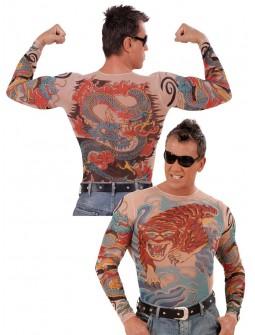 Malla de cuerpo con tatuajes