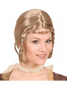 Peluca Princesa Medieval con Trenzas