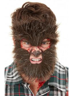 Máscara de Hombre Lobo de Pelo