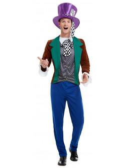 Disfraz de Sombrerero Loco Divertido para Hombre