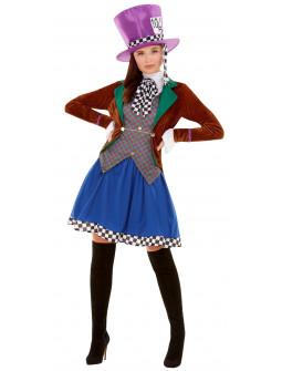 Disfraz de Sombrerera Loca de Alicia para Mujer