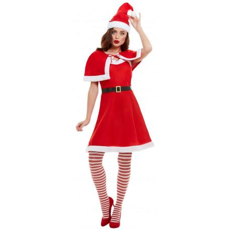Disfraz de Mamá Noel con Vestido y Capa para Mujer