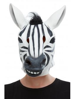 Máscara de Cebra de Látex con Pelo