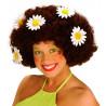 Peluca Hippie con Flores, en rubio o moreno