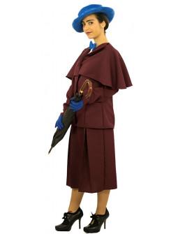 Disfraz de Mary Poppins Granate Premium para Mujer