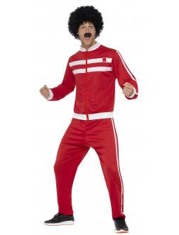 Disfraz Chándal Rojo Años 80 para Adulto