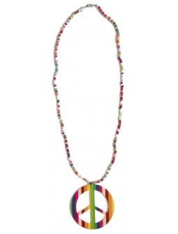 Collar Hippie Multicolor con Símbolo de la Paz