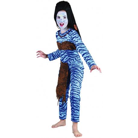 Disfraz de Avatar para Niña