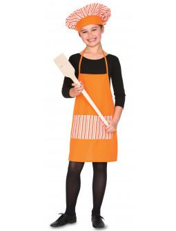 Kit de Cocinero Infantil con Delantal y Gorro