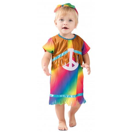 Disfraz de Hippie Multicolor para Bebé