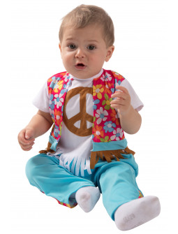 Disfraz de Hippie Azul para Bebé