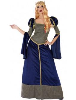 Disfraz de Duquesa Medieval Azul para Mujer