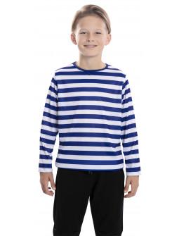 Camiseta de Rayas Azules y Blancas Infantil