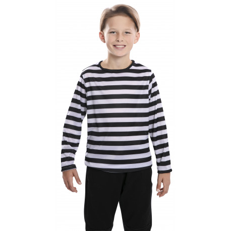 Camiseta de Rayas Negras y Blancas Infantil