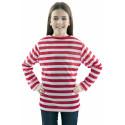Camiseta de Rayas Rojas y Blancas Infantil
