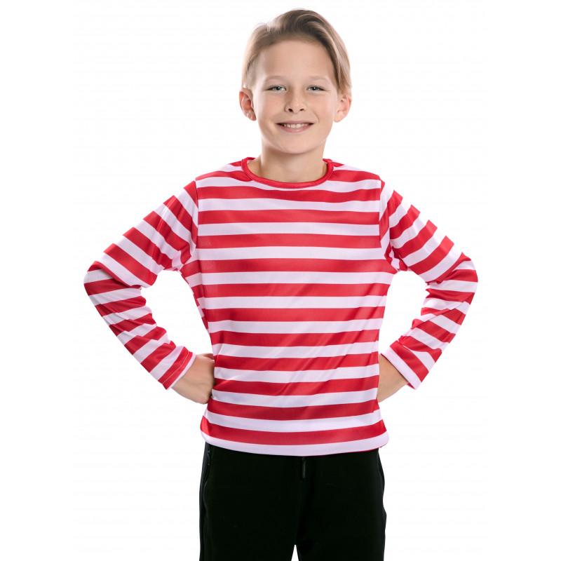Camiseta de Rayas Rojas y Blancas Infantil - Comprar Online