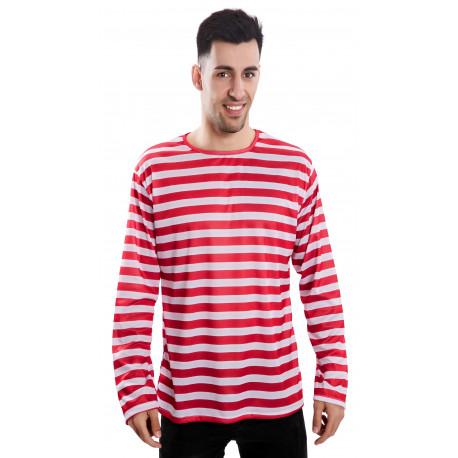 Camiseta de Rayas Rojas y Blancas
