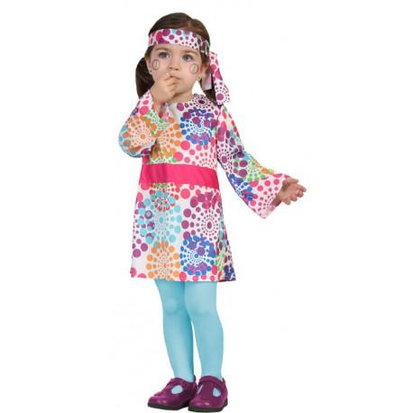 Disfraz de Niña Hippie Multicolor para Bebé