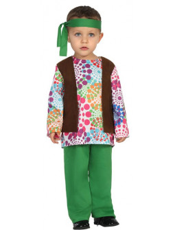 Disfraz de Niño Hippie Multicolor para Bebé