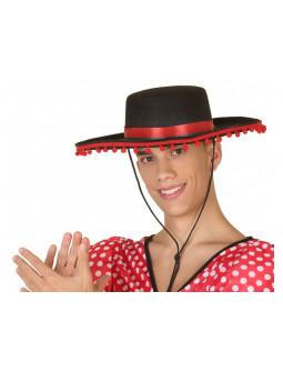 Sombrero Cordobés con Cinta de Madroño Roja