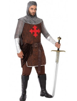 Disfraz de Caballero Medieval Cruzado para Hombre
