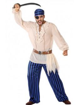 Disfraz de Pirata Azul para Hombre