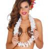 Collar Hawaiano de Flores Blancas