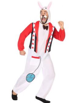 Disfraz de Conejo Blanco de Alicia para Hombre