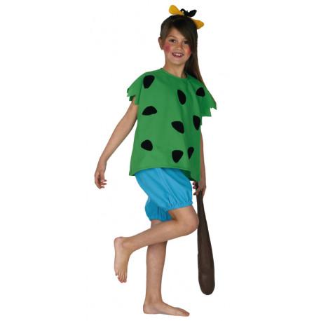 Disfraz de Pebbles Picapiedra para Niña