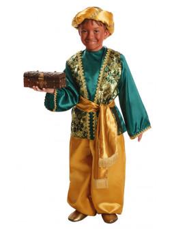 Disfraz de Paje Verde del Rey Baltasar Infantil