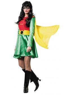 Disfraz de Superheroína Rojo y Verde para Mujer