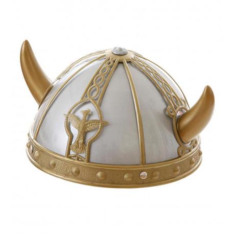 Casco de Vikingo con Cuernos Pequeños