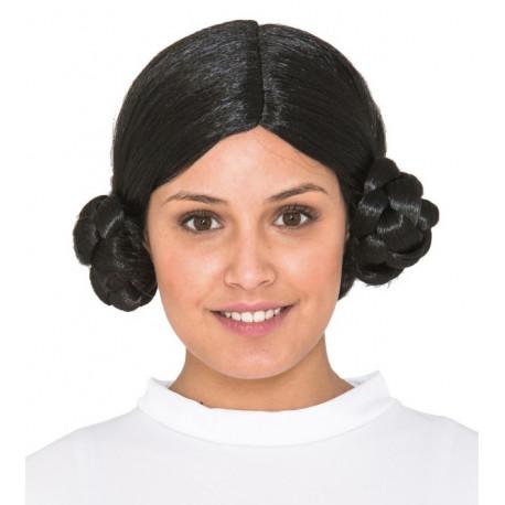 Peluca de la Princesa Leia Morena