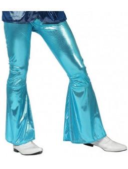 Pantalón de Campana Disco en Azul